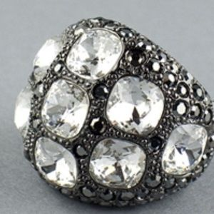 Kenneth Jay Lane Large Crystal Dome Ring